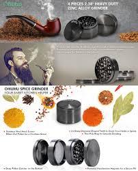 Coffee Grinder Marijuana Amazon Com Ohuhu 4 Piece Herb Grinder Tobacco Weed Grinders 2 38