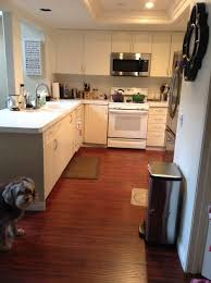 What Color Kitchen Cabinets Go With White Appliances Dark Or Light Counters With White Cabinets And Dark Floors