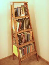Short Ladder Bookcase Diy Bookshelf