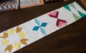 sugarplum table runner quilt along fresh lemons modern quilts