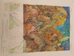 Washington State Topographic Map by Through Space And Time Creative Cartography Libguides At