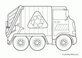 garbage truck coloring pages kids transportation trucks