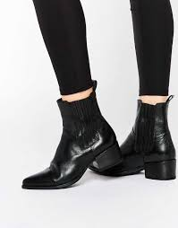 canada s ankle boots 2016 shoes selected femme black leather point ankle