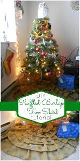 craftaholics anonymous ruffled burlap tree skirt tutorial