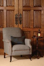 Tetrad Armchair Tetrad Harris Tweed Bowmore Armchair In Loden Herringbone Handmade