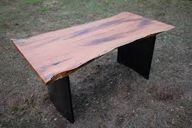 live edge table with turquoise inlay furniture for sale live edge mesquite desk with turquoise inlay