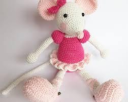 Ballerina Chandelier Pattern Ballerina Mouse Crochet Pattern Amigurumi