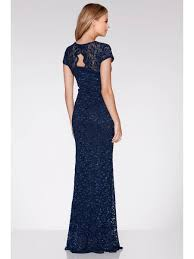 maxi dress with sleeves navy lace sequin cap sleeve maxi dress quiz clothing