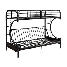 Black Futon Bunk Bed Acme Eclipse Twin Over Full Futon Bunk Bed In Black Futon Bunk