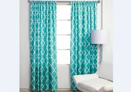 teal geometric curtains in the interior best curtains design 2016