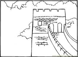 great wall of china coloring page kids coloring free kids coloring