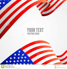 Us Flag Vector Free Download American Flag Border Vector Illustration Stock Vector Image