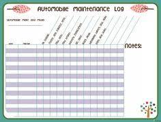 Truck Maintenance Spreadsheet by Car Maintenance Checklist Printable Designed For Fitness