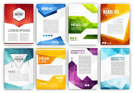 technical brochure template brochure templates collection vector free