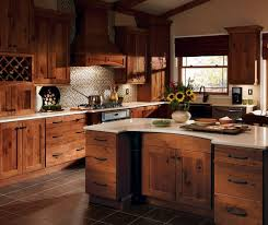 rustic kitchen design ideas rustic hickory kitchen cabinets solid wood kitchen furniture ideas