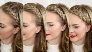 hair braid across back of head four headband braids missy sue youtube