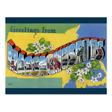 greetings from massachusetts postcard zazzle