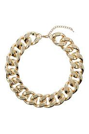 gold chunky necklace images Gold chunky chain necklace jewellery bags accessories topshop jpg