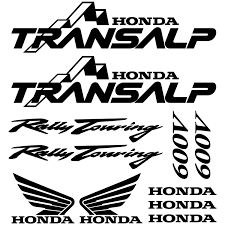 honda transalp wallstickers folies honda transalp 600v decal stickers kit