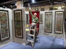 art show display lighting art in stitches the philadelphia museum of art craft show