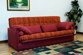 Orange Sofa Bed by Squared Double Sofa Bed Upholstered In Microfibre And Which Can