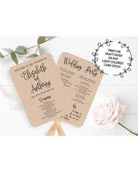 wedding program fan template great deals on wedding program fan template printable editable