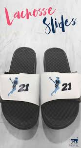 personalized lacrosse slides choose from dozens of designs add