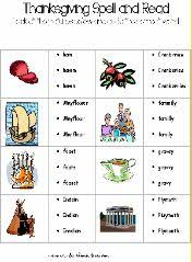 thanksgiving spelling worksheets thanksgiving and spelling