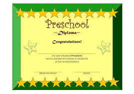 preschool graduation diploma preschool diploma certificate template 1 the best template collection
