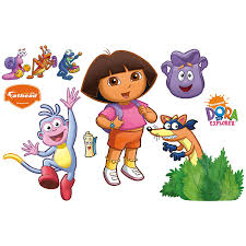 amazon com dora the explorer backpack and boots wall decal home amazon com dora the explorer backpack and boots wall decal home kitchen