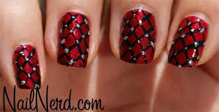 nail designs black and red nail art designs