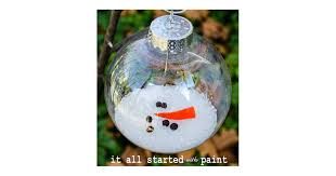 melted snowman ornament diy ornaments popsugar smart