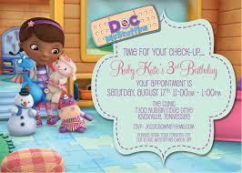 doc mcstuffins birthday invitations lilbibby com