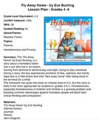 Fly Away Home Lesson Plan | fly away home by eve bunting homelessness lp grades 4 up by