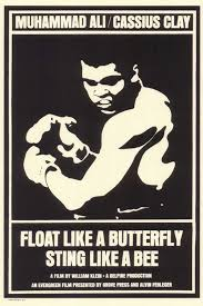 float like a butterfly sting like a bee posters from