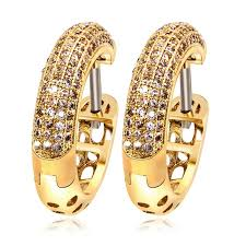types of earrings for women fashion secret unique design women deluxe 18k real gold plated cz
