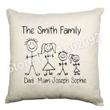 Personalised Home Decor Aliexpress Com Buy Funny Custom Name Family Cushion Cover