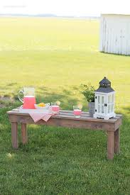 Outdoor Wood Bench Diy by Easy Diy Outdoor Bench Love Grows Wild