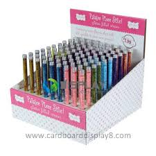 point of sale display stand pen promotional counter displays with
