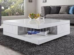 table basse palomba carrée blanc laqué chez mobistoxx