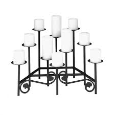decorating unique black fireplace candelabra made of metal for