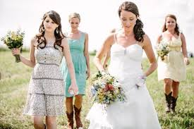 country style bridesmaid dresses country wedding with mismatched bridesmaid dresses rustic