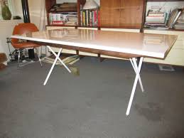 george nelson for herman miller x leg dining table at 1stdibs