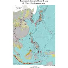 map asie eastern asia geological hazards map ccgm cgmw