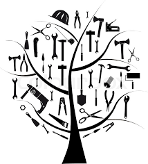 vector tree with different tools for repair stock vector colourbox