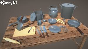kitchen stuff collection 3d model cgtrader