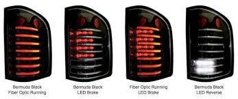 fiber optic tail lights 10 13 chevrolet silverado pickup truck bermuda black fiber optic and