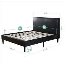 Platform Bed Slats Zinus Deluxe Faux Leather Upholstered Platform Bed With Wooden
