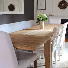 Restoration Hardware Trestle Table Knock Off by Diy Farmhouse Table Restoration Hardware Inspired Farmhouse