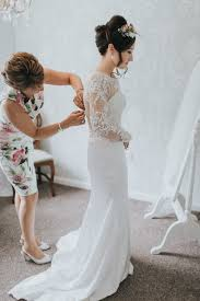 wedding dresses nottingham in lace with bridesmaids in white the walled garden nottingham
